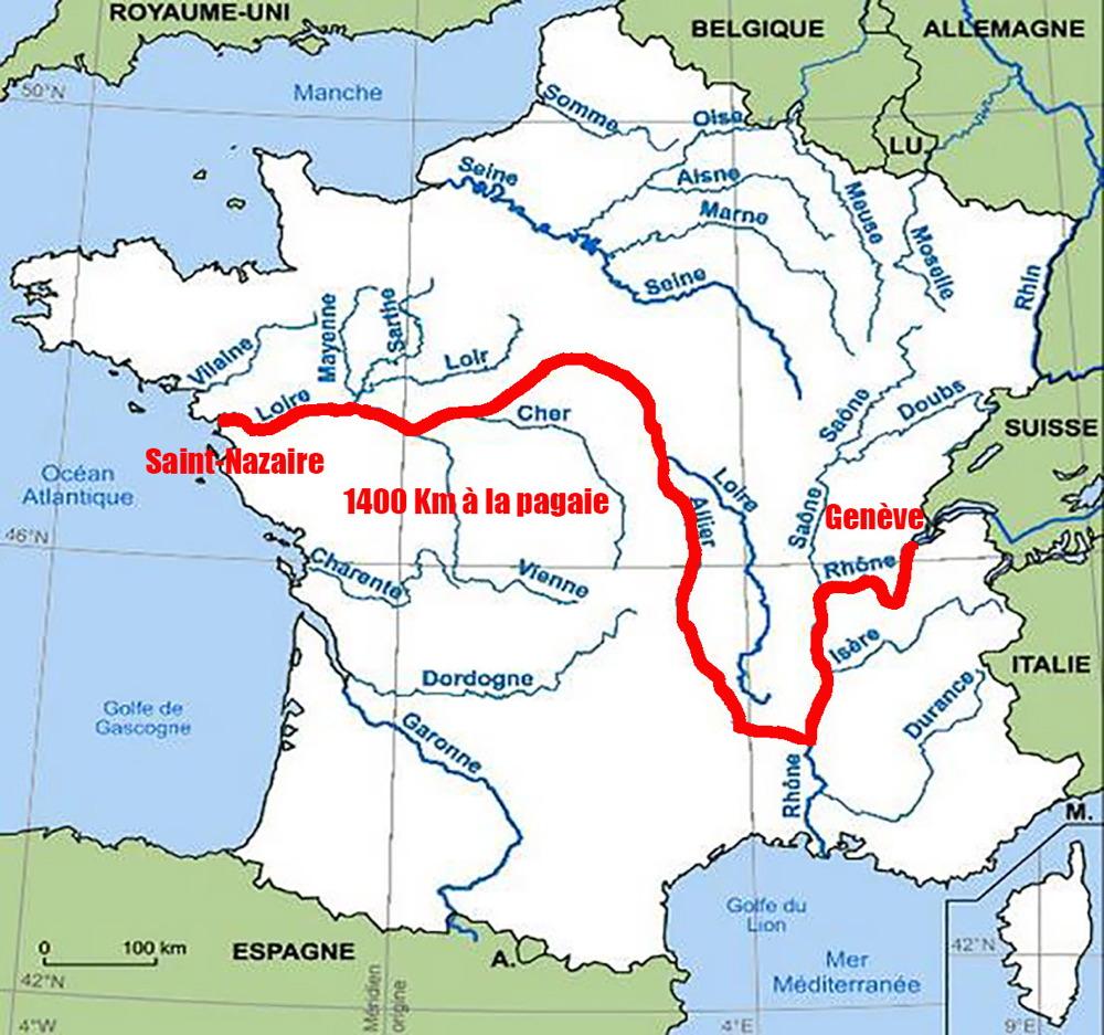 La Grande Traversée, 1400Km En Canoë tout Carte Fleuve France