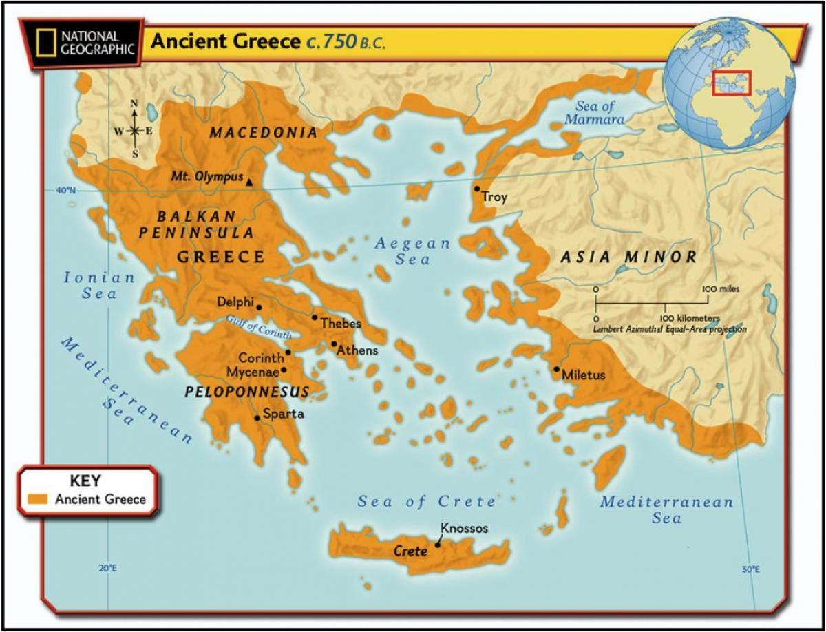La Grèce Antique Carte Géographique - Carte Géographique De intérieur Carte Géographique Europe