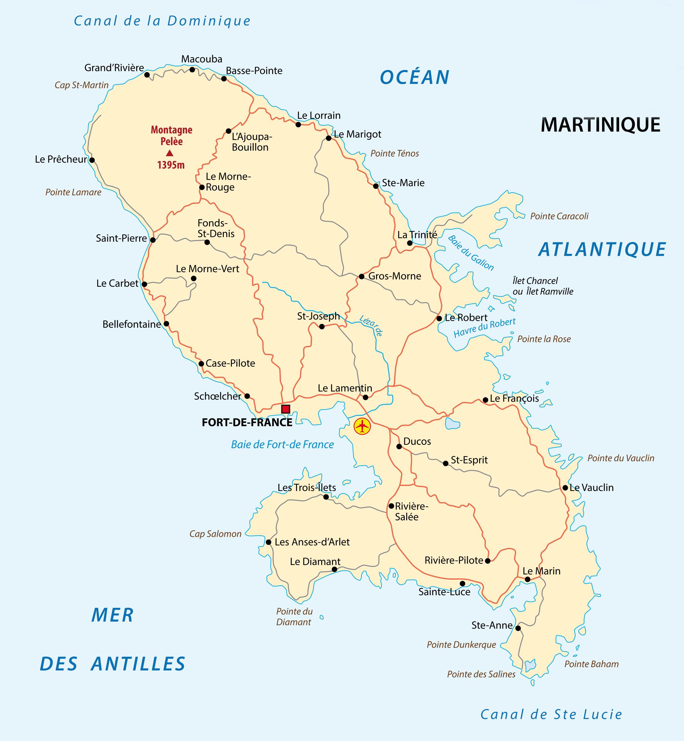 La Martinique, Terre De Bananes - Extra Ordinaire Banane dedans Département D Outre Mer Carte