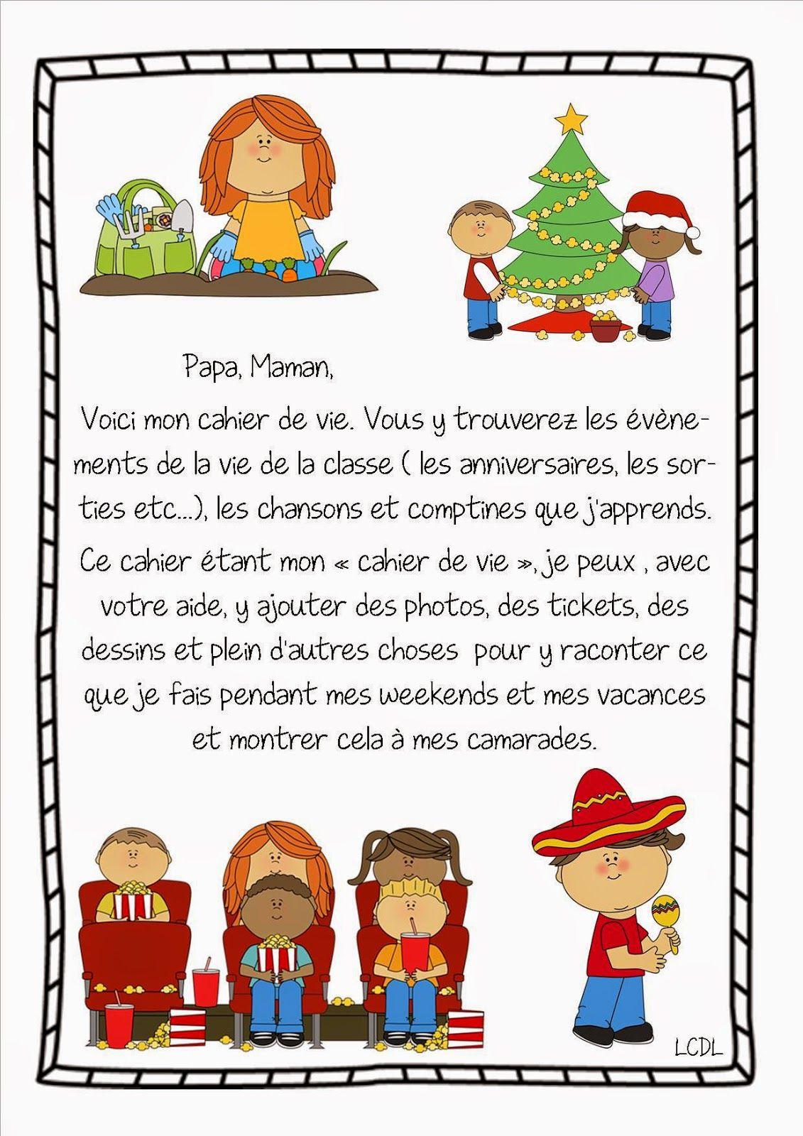 La Maternelle De Laurène: Page De Garde Cahier De Vie tout Cahier D Activité Maternelle