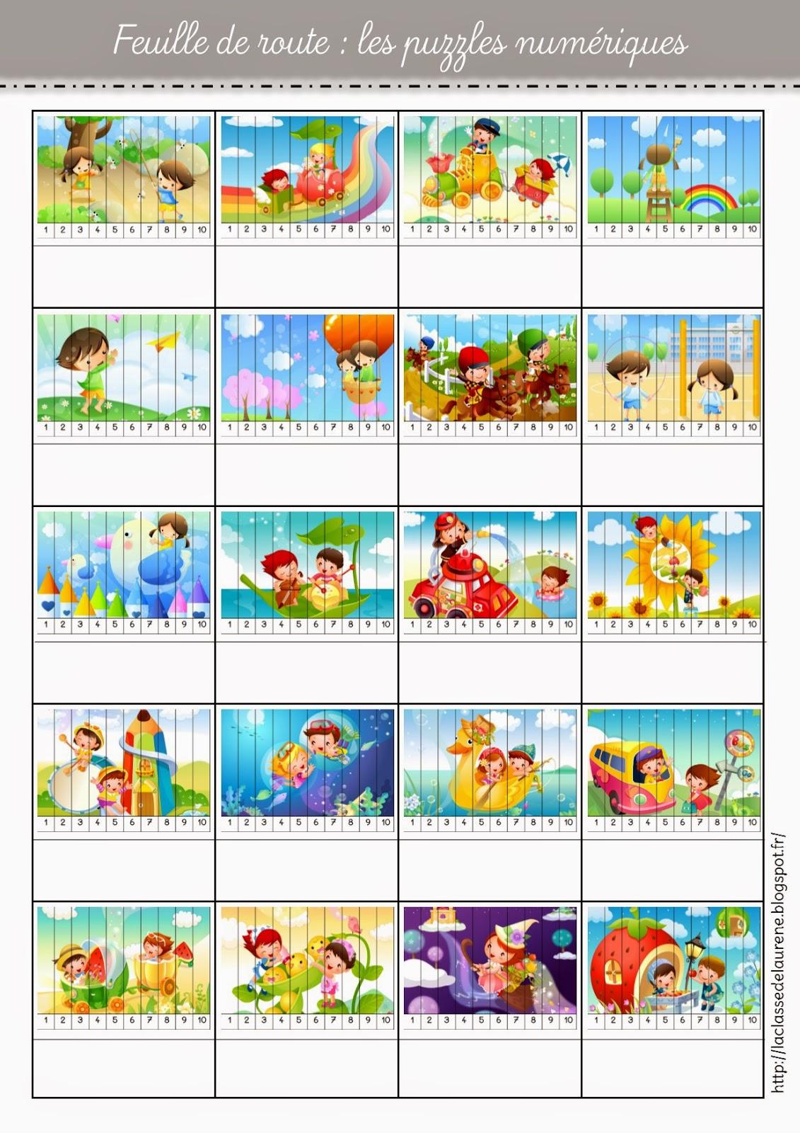 La Maternelle De Laurène: Puzzles Numériques tout Puzzle En Ligne Maternelle