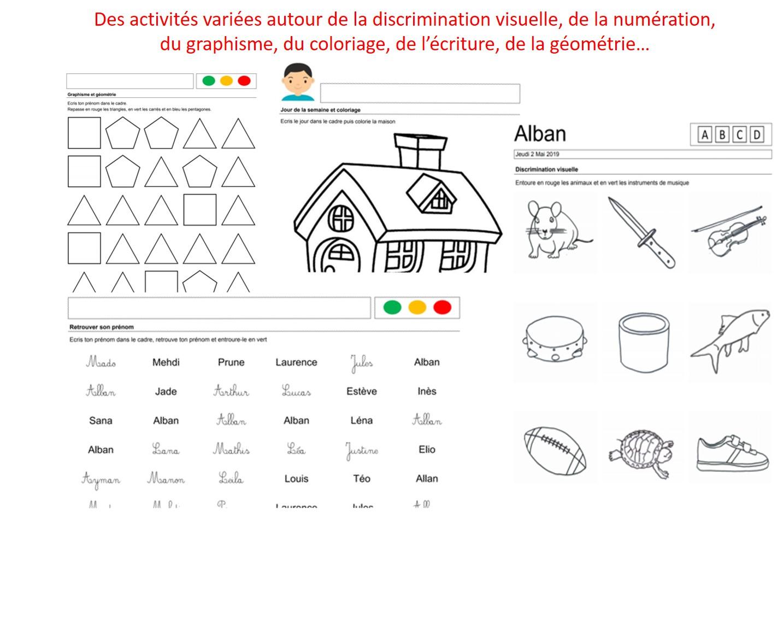 La Maternelle Des Prénoms, Étiquettes Et Activités Autour intérieur Fiche Graphisme Ms
