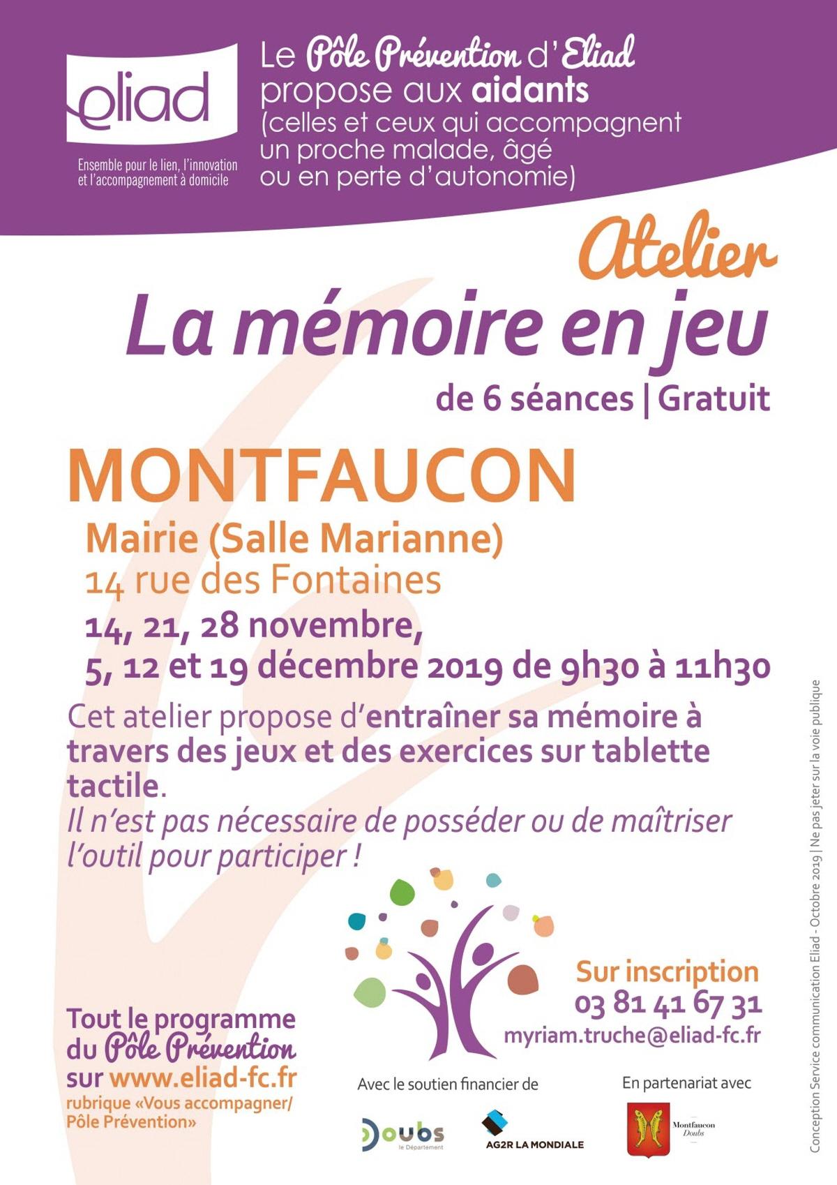 La Memoire En Jeu» : Rencontre, Conference A Montfaucon encequiconcerne Jeux Memoire Gratuit