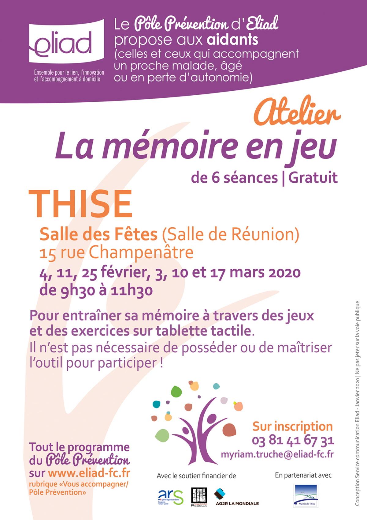 La Memoire En Jeu» : Rencontre, Conference A Thise serapportantà Jeux Memoire Gratuit