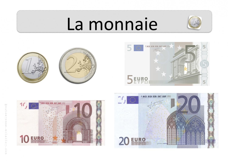 La Monnaie – Affichages Collectifs | Bout De Gomme dedans Billets Et Pièces En Euros À Imprimer