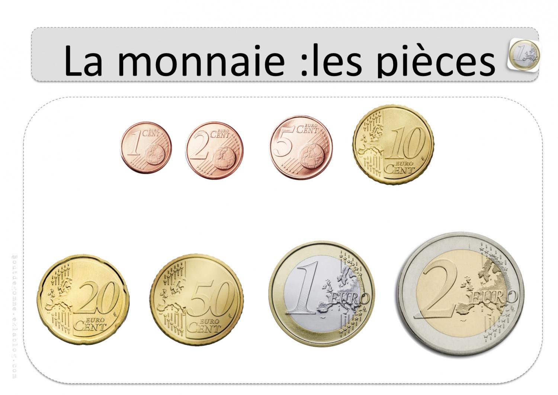 La Monnaie – Affichages Collectifs | Bout De Gomme dedans Pièces Euros À Imprimer