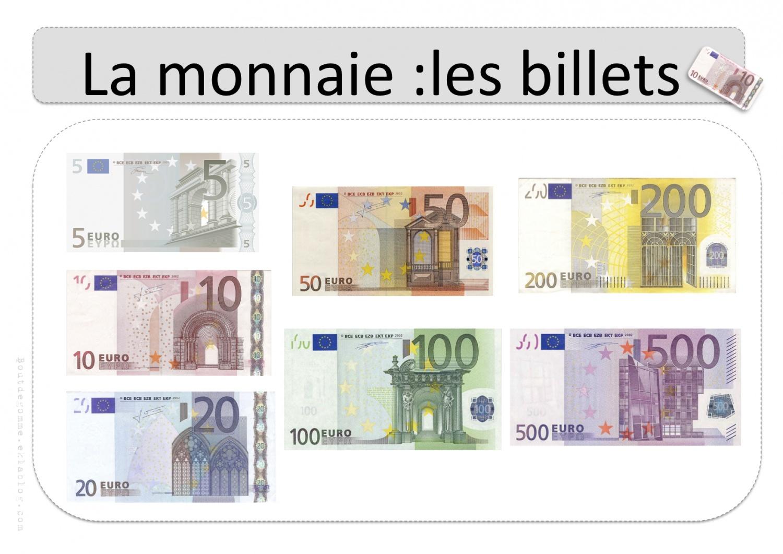 La Monnaie – Affichages Collectifs | Bout De Gomme destiné Billets Et Pièces En Euros À Imprimer