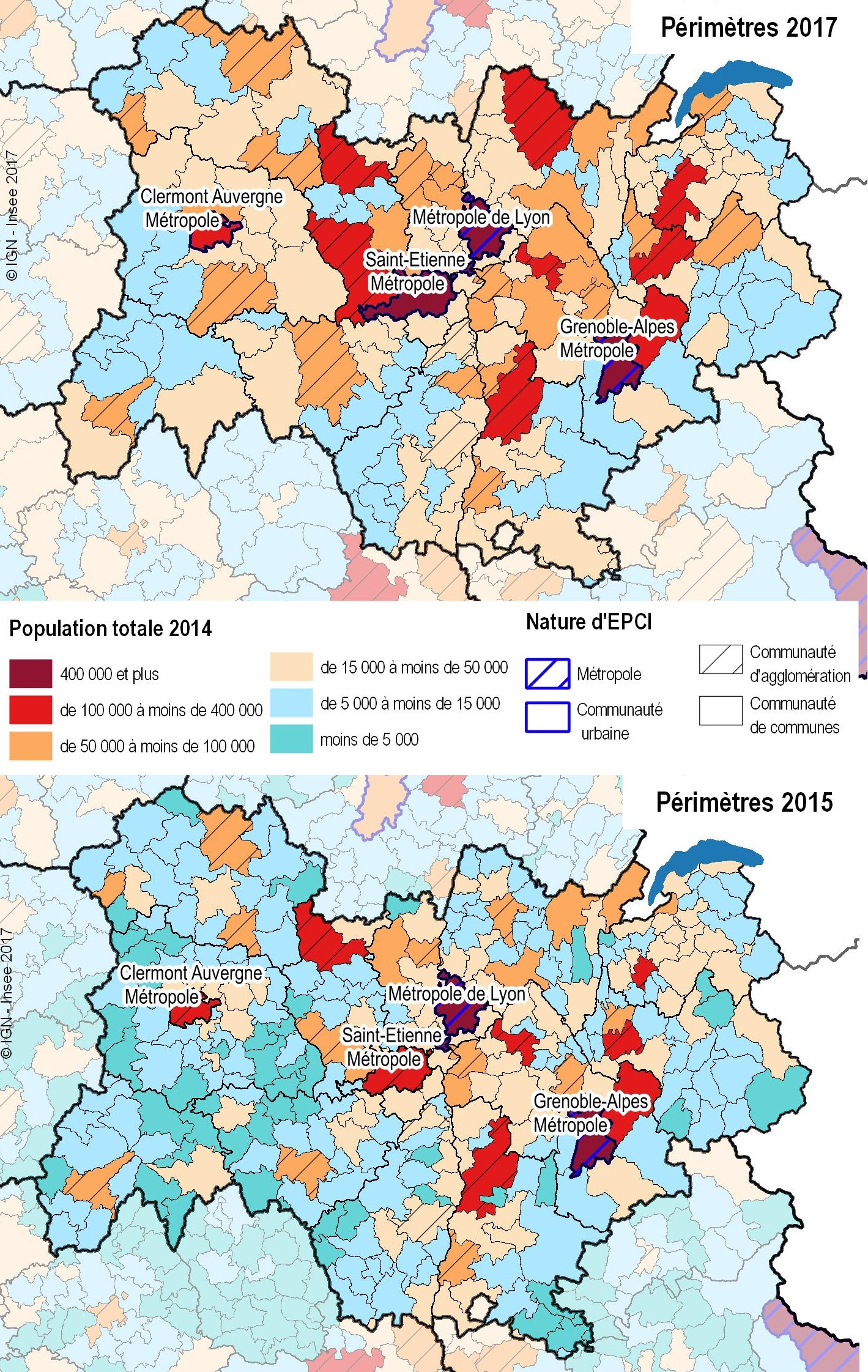 La Nouvelle Carte De L'intercommunalité En Auvergne-Rhône concernant Nouvelles Régions De France 2017