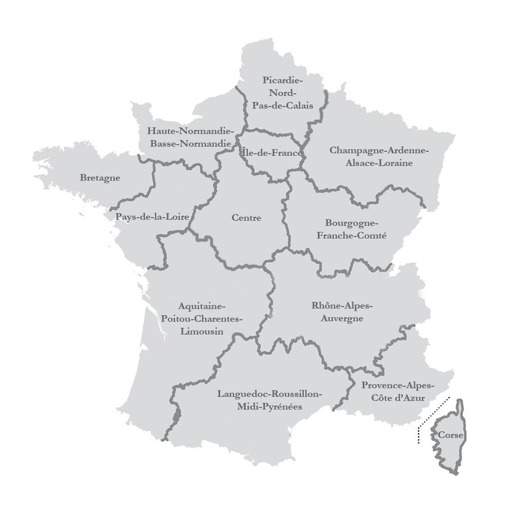 La Nouvelle Carte Des Régions Adoptée Par L'assemblée intérieur Carte Des 13 Régions