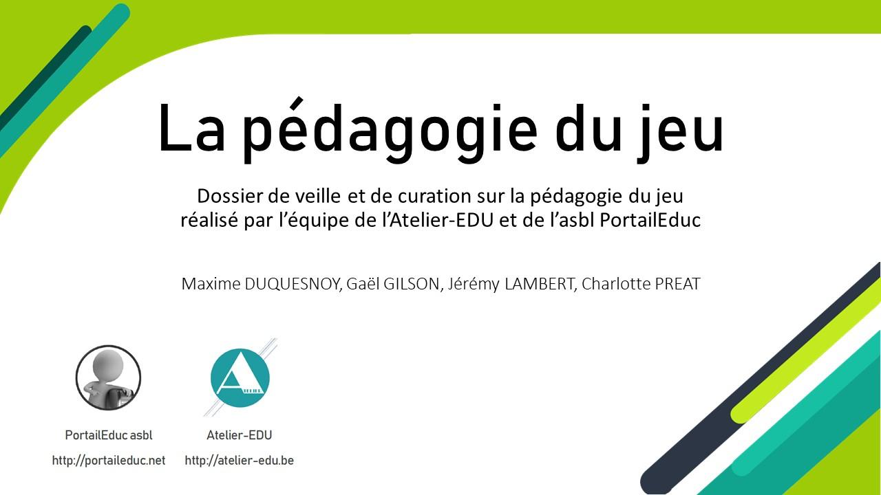 La Pédagogie Du Jeu – L'atelier à Jeux Apprentissage Maternelle