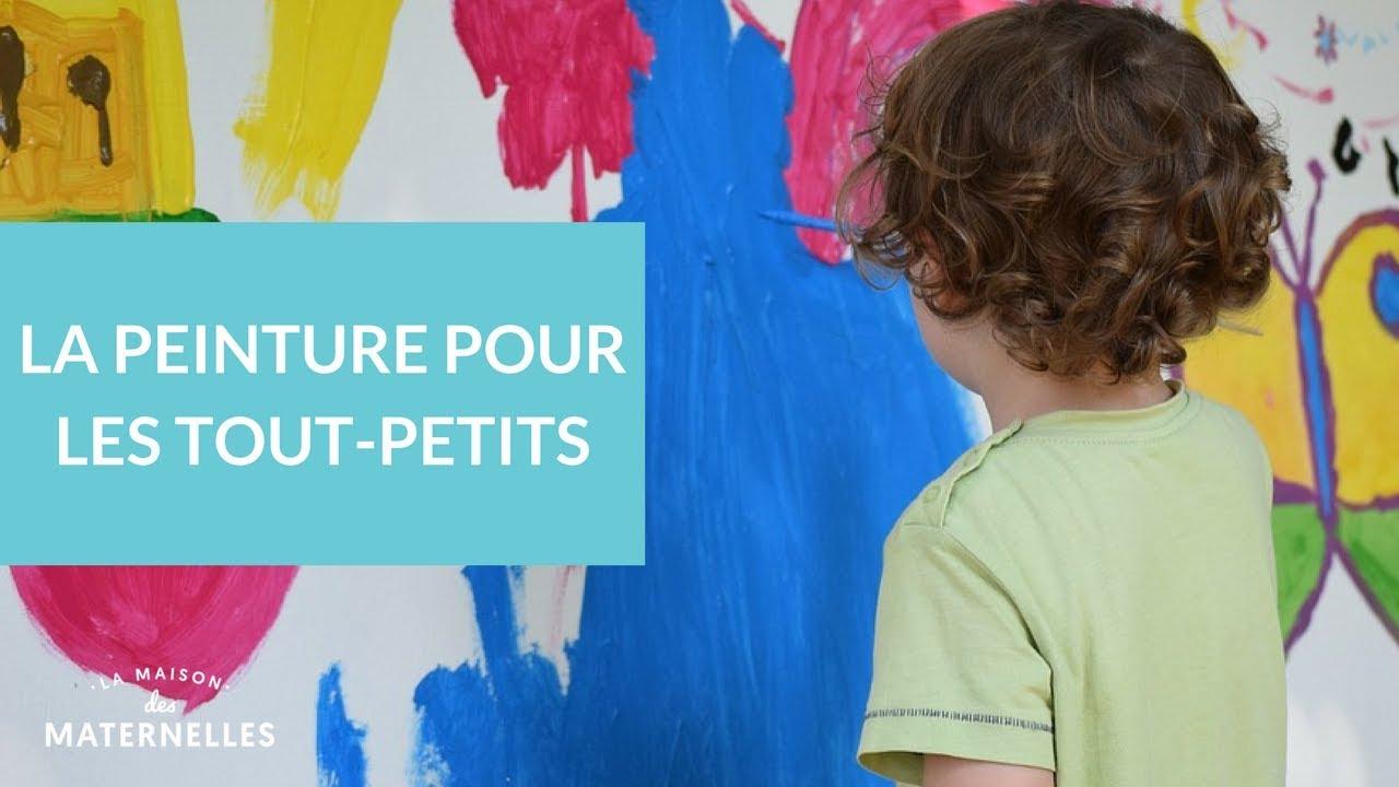 La Peinture Pour Les Tout-Petits - La Maison Des Maternelles #lmdm encequiconcerne Travaux Manuel Pour Tout Petit