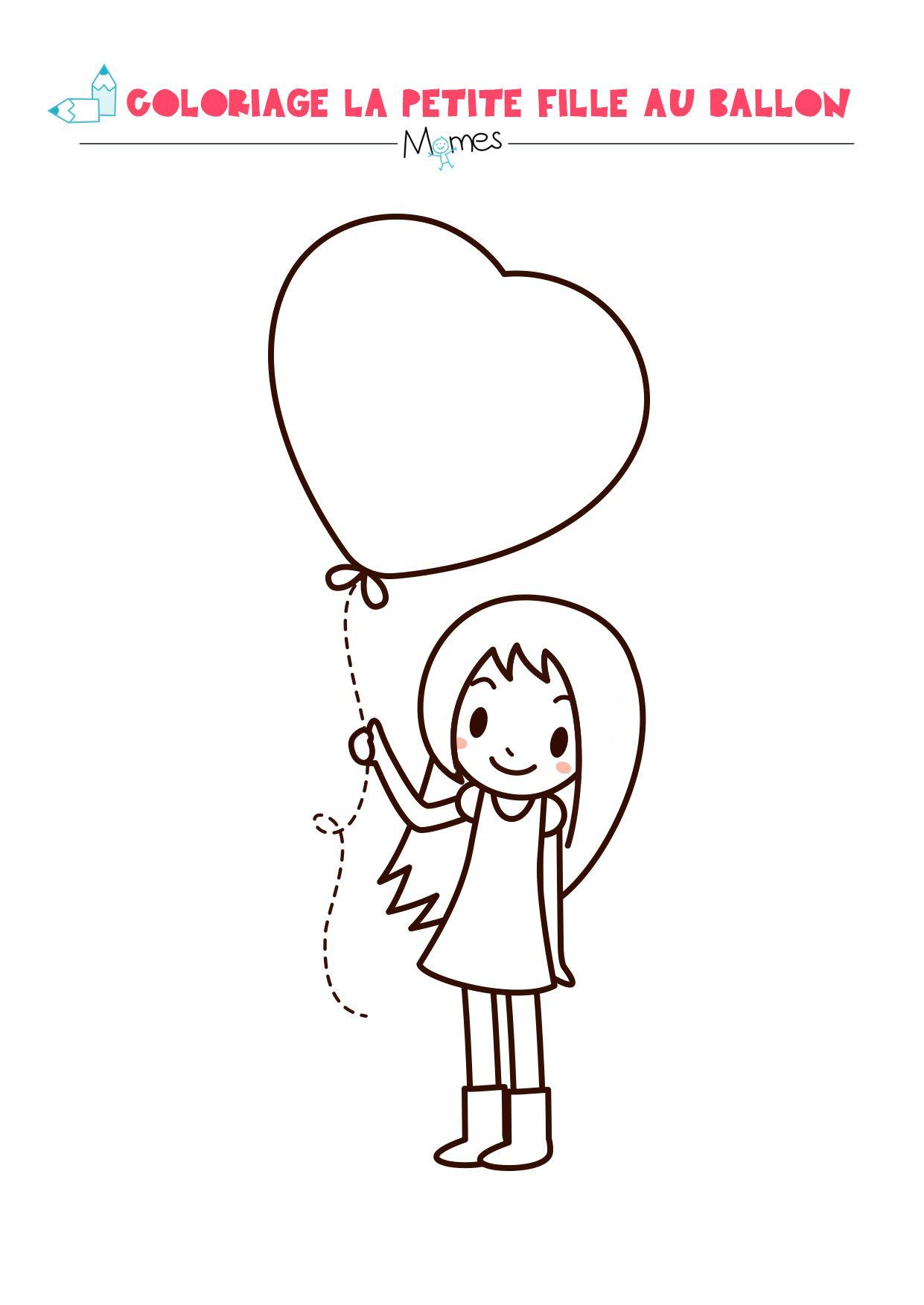 La Petite Fille Au Grand Coeur | Coloriage Coeur, Dessin intérieur Dessin Pour La Saint Valentin