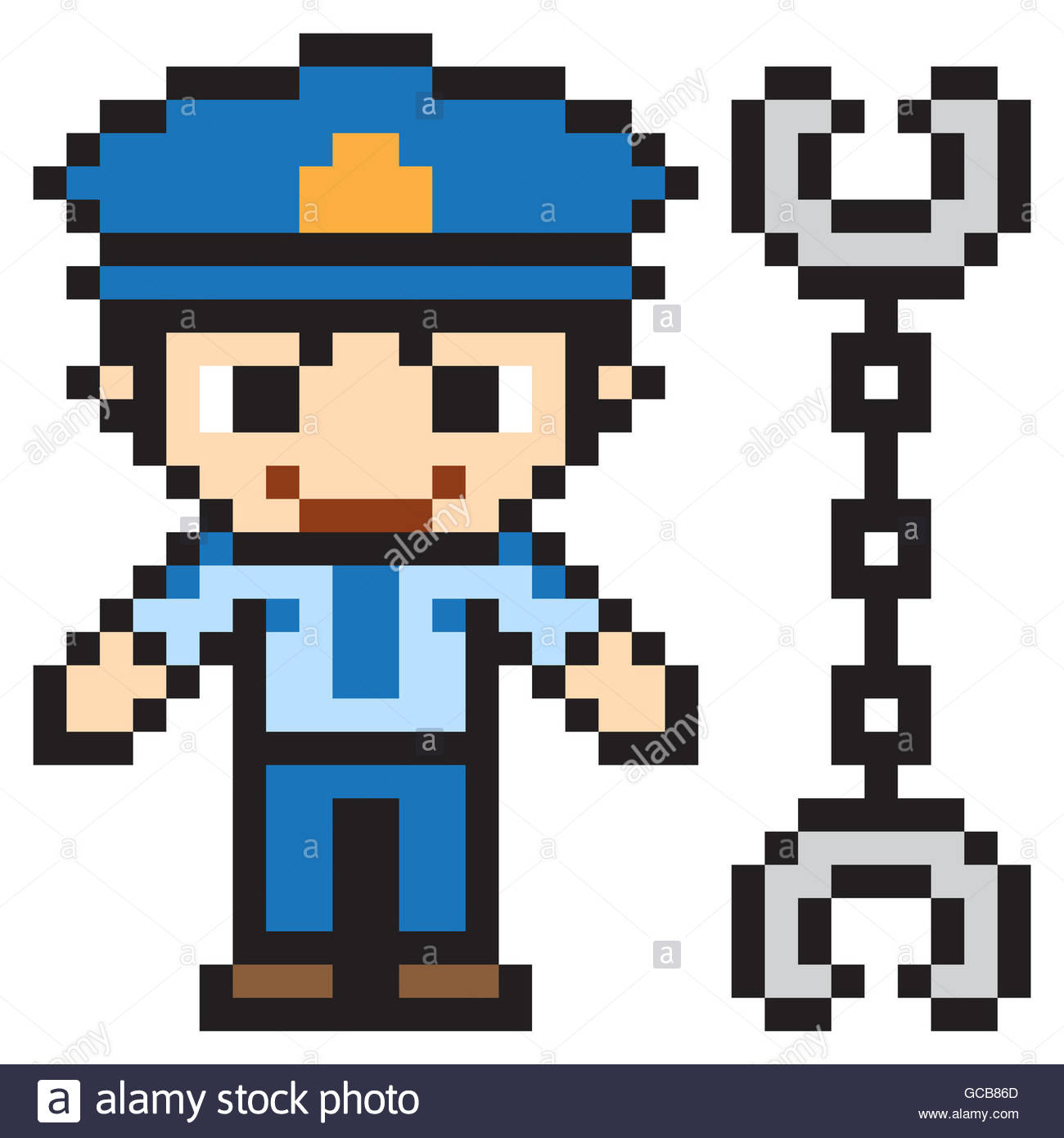 La Police Pixel Art Illustration Design Banque D'images encequiconcerne Voiture Pixel Art