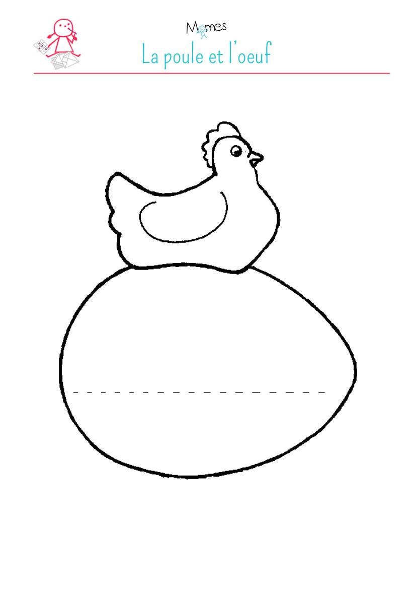 La Poule Et L'œuf - Momes tout Jeux À Imprimer 3 Ans