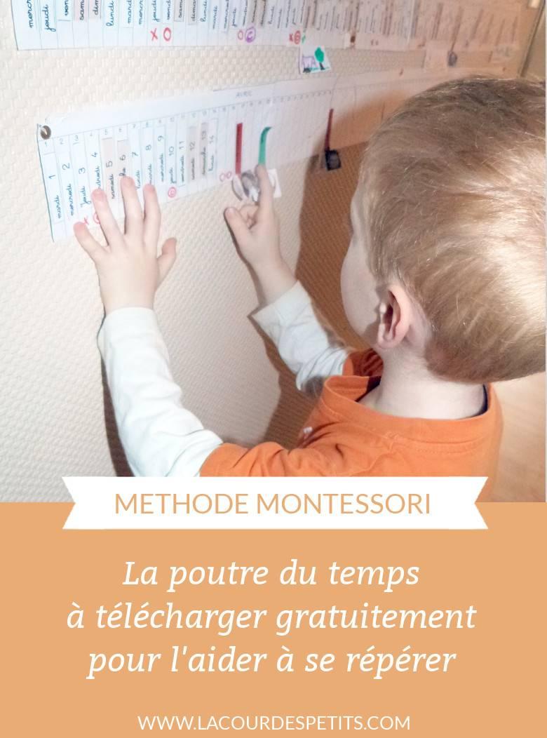 La Poutre Du Temps Montessori À Imprimer |La Cour Des Petits intérieur Jeux Bébé 2 Ans Gratuit A Telecharger