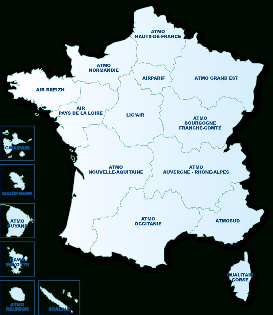 La Qualité De L'air Dans Votre Région - Atmo France à Région Et Département France