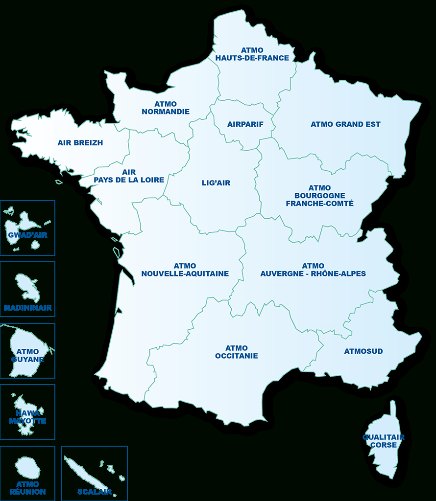 La Qualité De L'air Dans Votre Région - Atmo France encequiconcerne Liste Des Régions De France