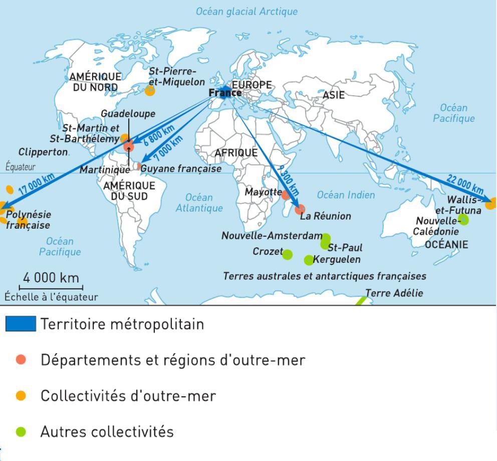 La Region - Troisiemes destiné Carte France D Outre Mer