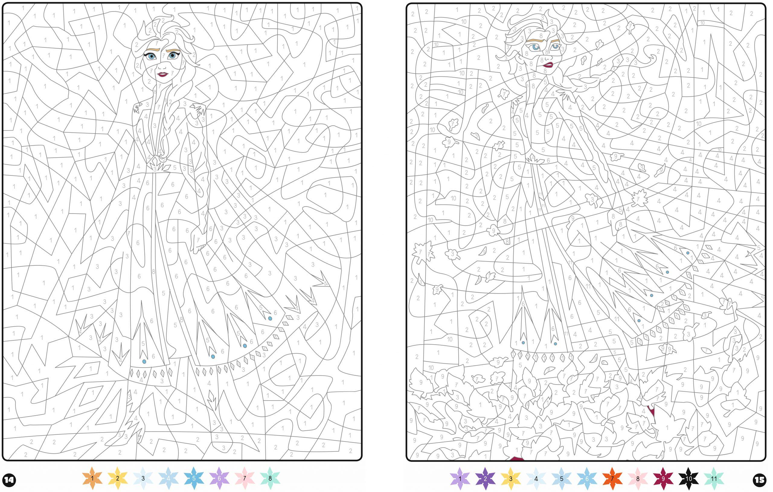 La Reine Des Neiges 2 - Coloriages Magiques - Mystères - Disney avec Coloriage Magique 4 Ans
