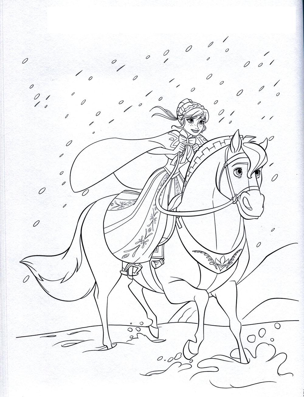 La Reine Des Neiges Disney 8 - Coloriage La Reine Des Neiges avec Jeux De Coloriage De Cheval