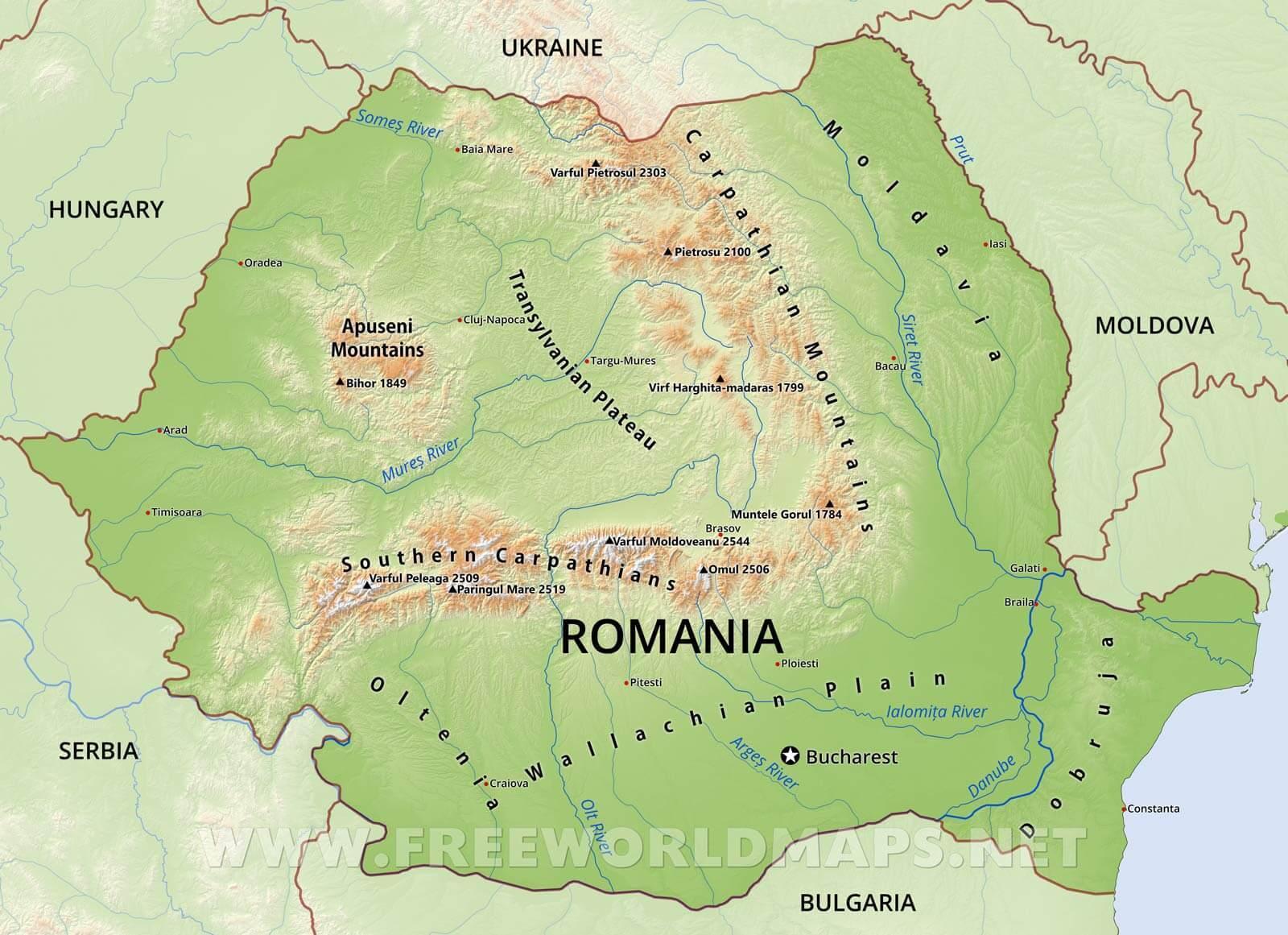 La Roumanie Géographie Carte - Carte De La Roumanie, De La encequiconcerne Carte Géographique Europe