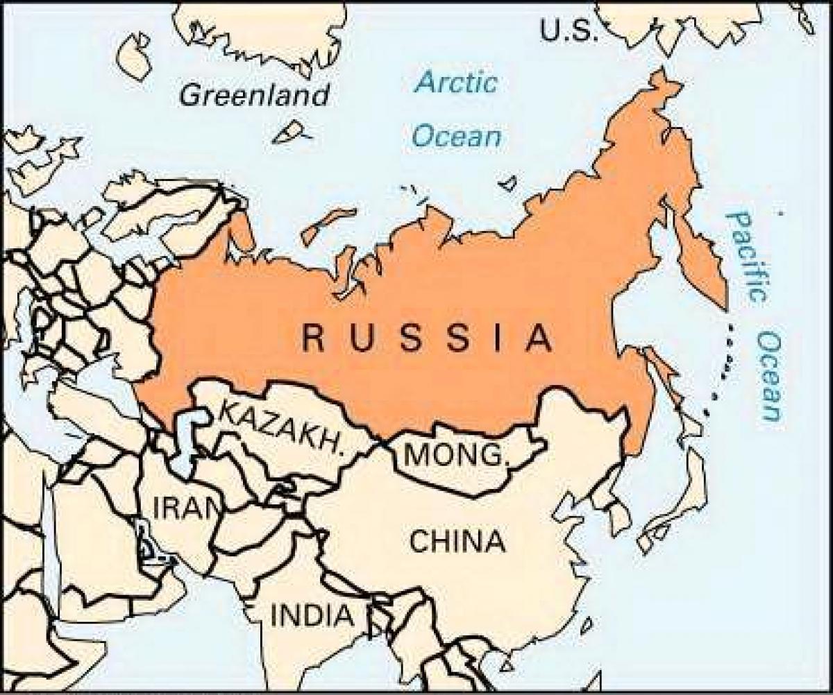 La Russie Carte Pour Les Enfants - Carte De La Russie Pour tout Carte Europe Enfant