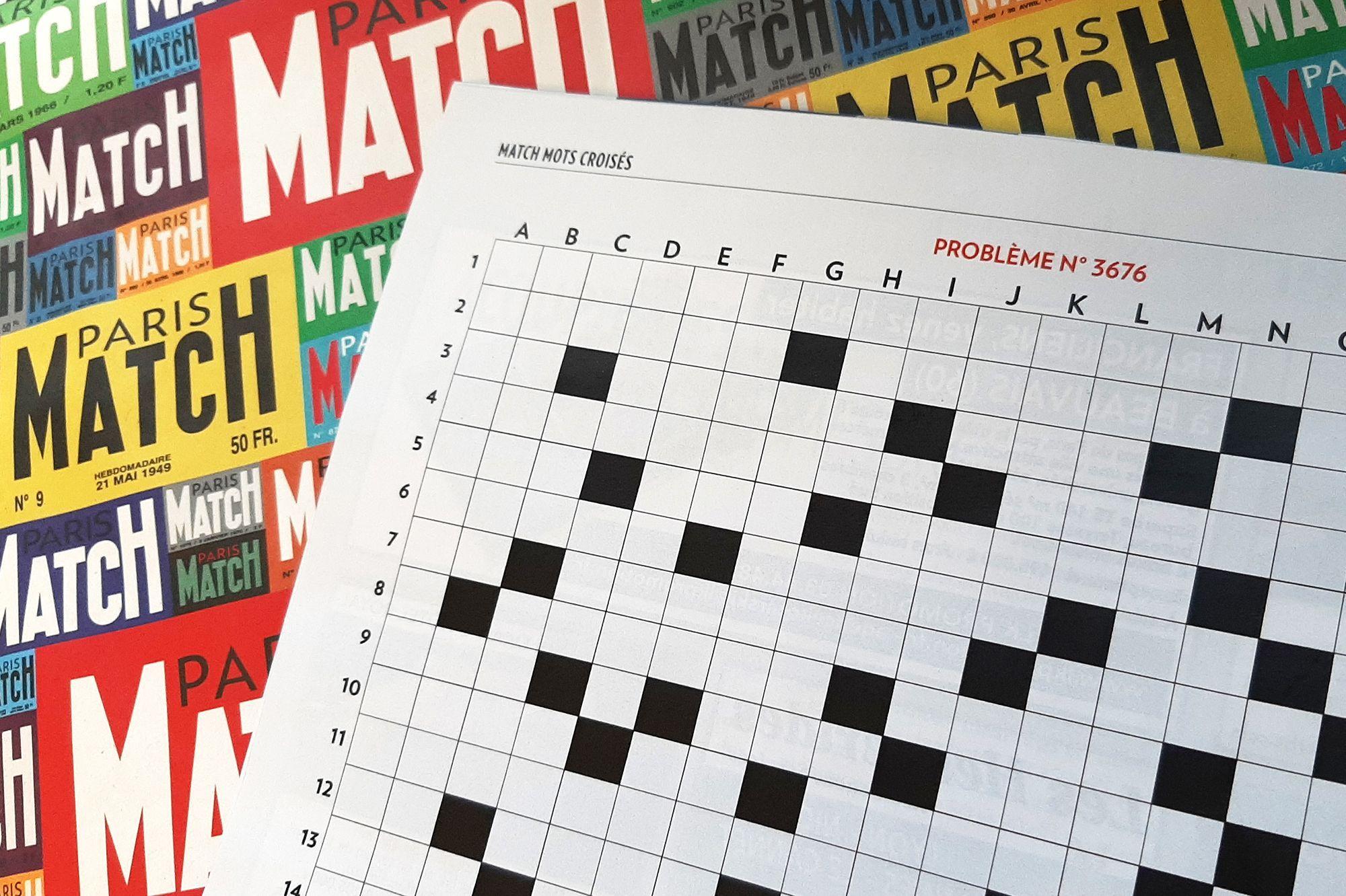 La Solution Des Mots-Croisés De Paris Match N°3676 avec Mots Fleche