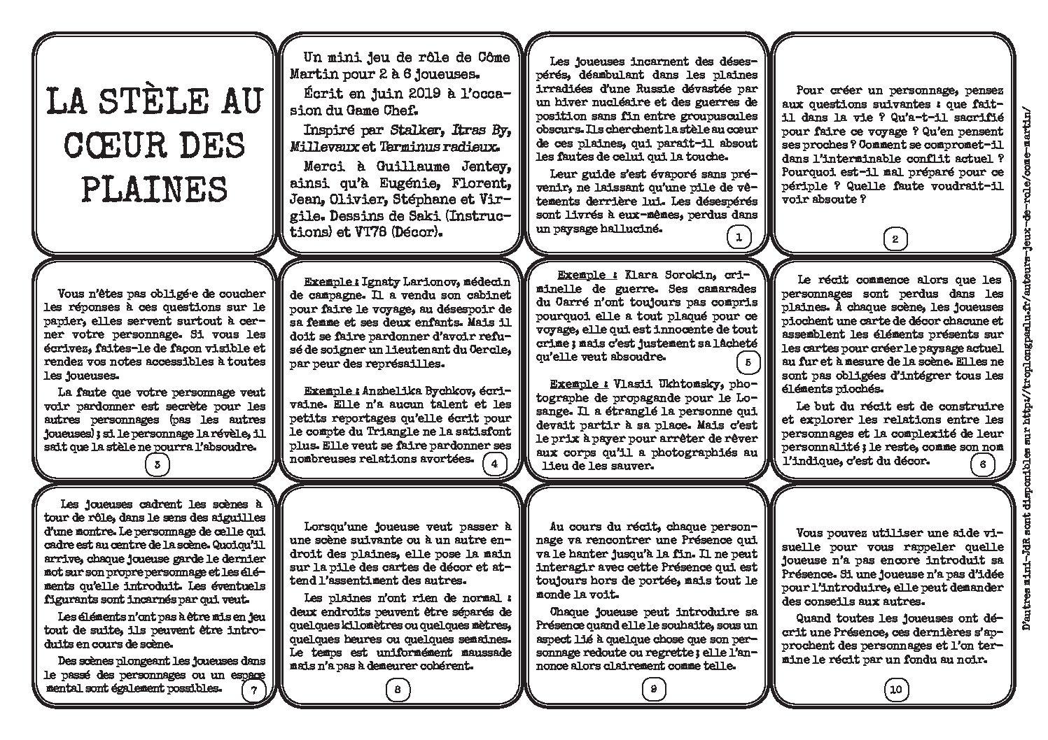 La Stèle Au Cœur Des Plaines - Trop Long Pas Lu avec Jeux Avec Des Questions