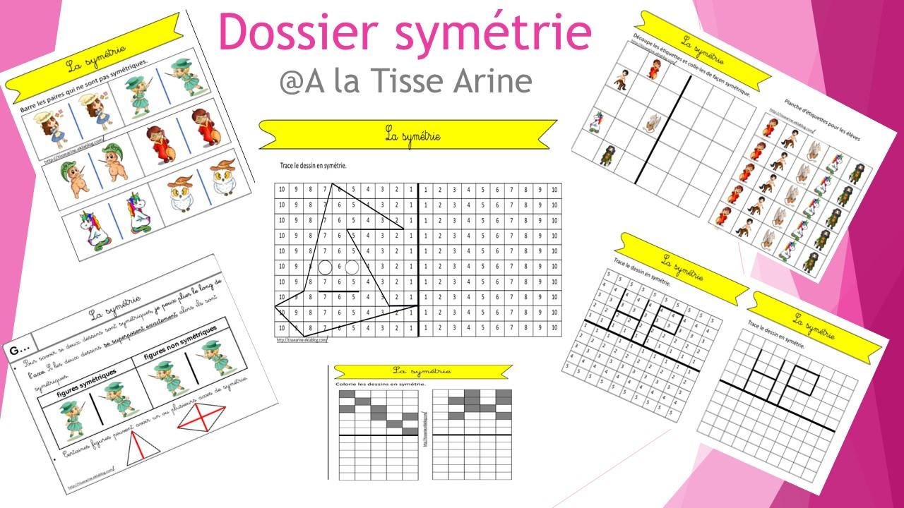 La Symétrie Ce1/ Ce2 - A La Tisse Arine à Exercice Symétrie Ce1
