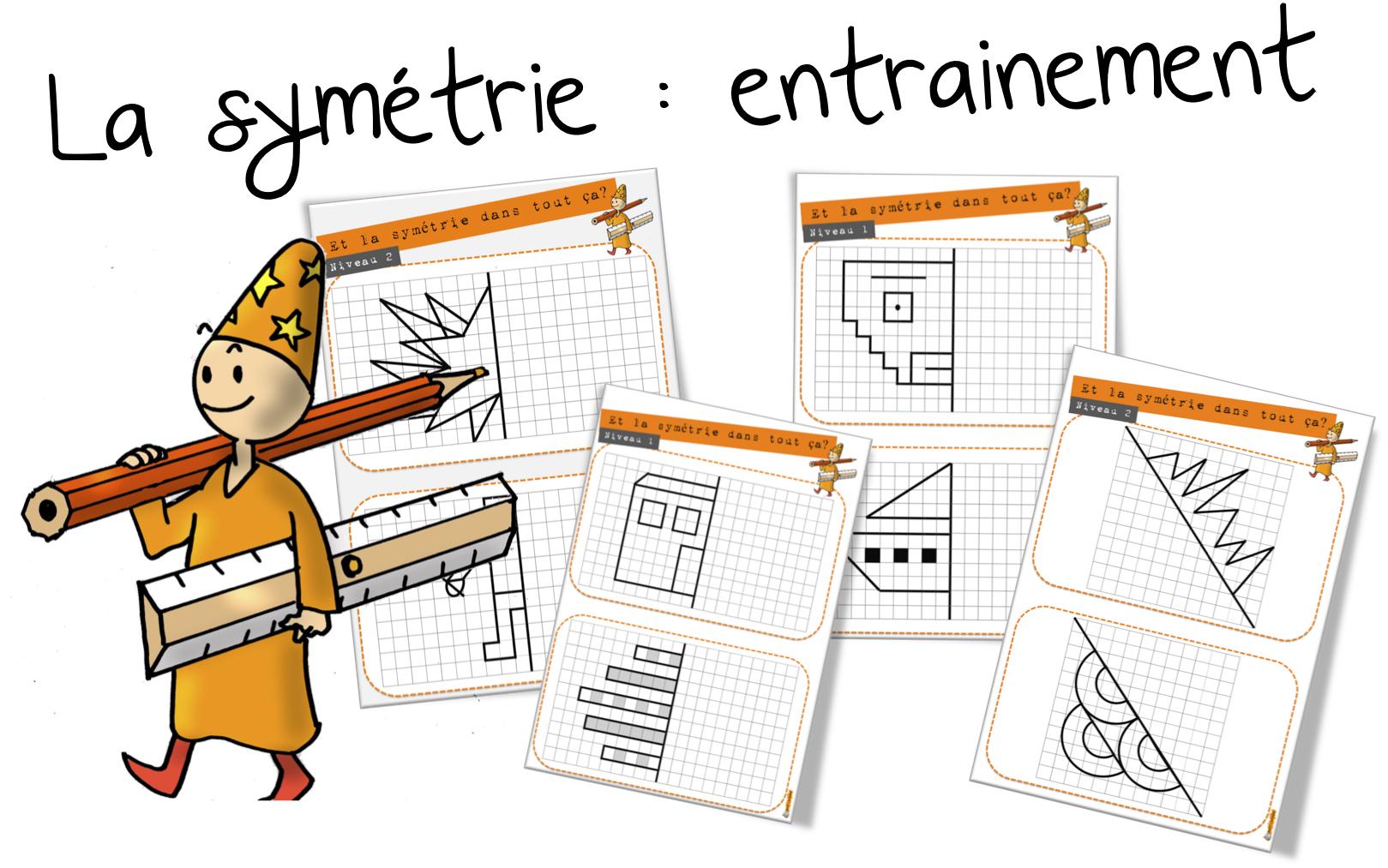 La Symétrie : Entrainement | Bout De Gomme destiné Symétrie Cm1 Exercices
