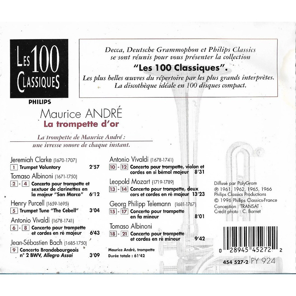 La Trompette D'or By Maurice Andre, Cd With Libertemusic à Mineur D Or