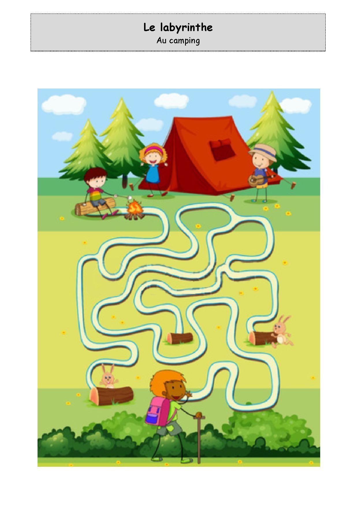 Labyrinthe - Au Camping intérieur Labyrinthe A Imprimer