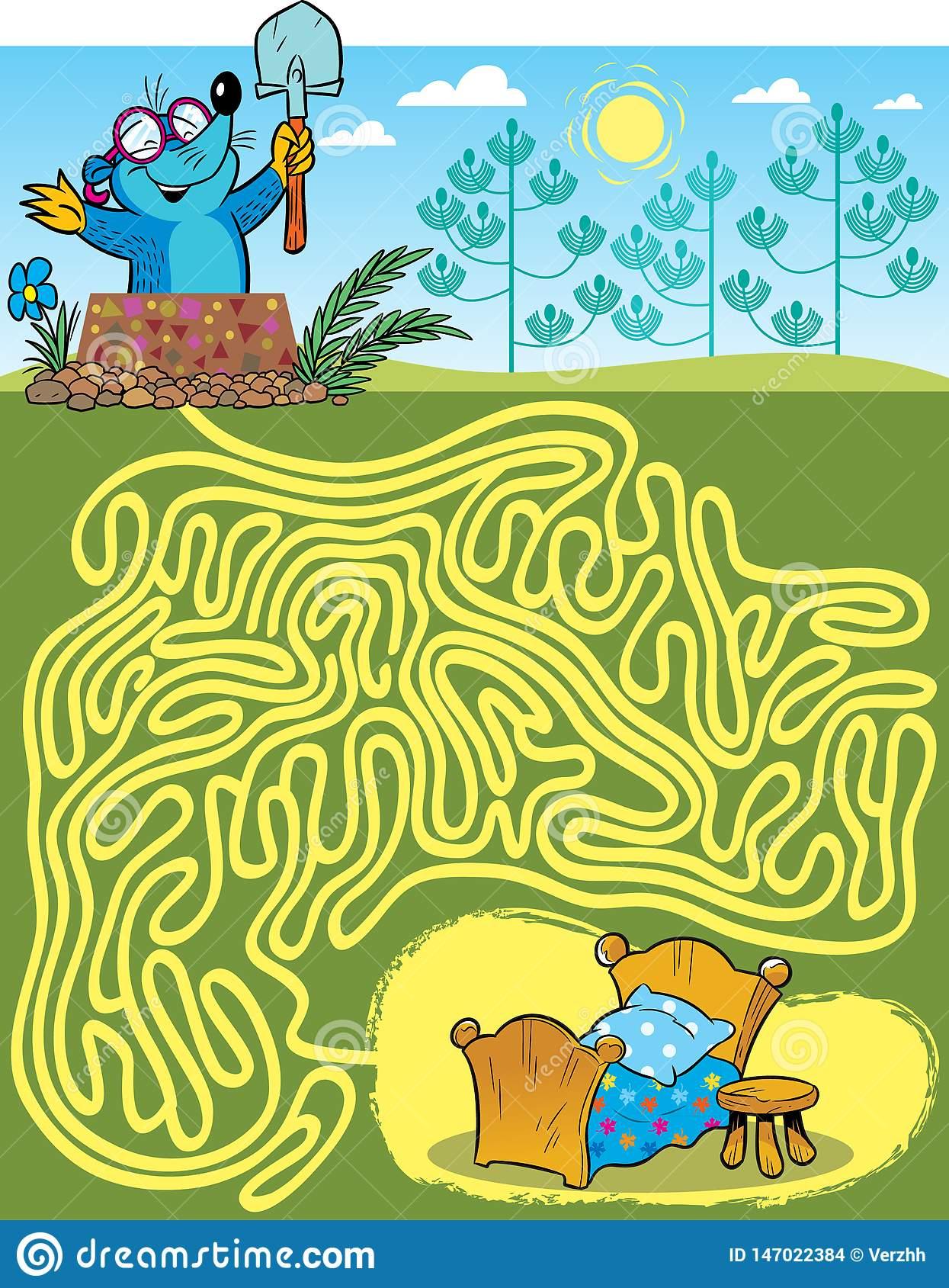 Labyrinthe Avec Une Taupe, Pour Trouver Une Manière tout La Taupe Musique