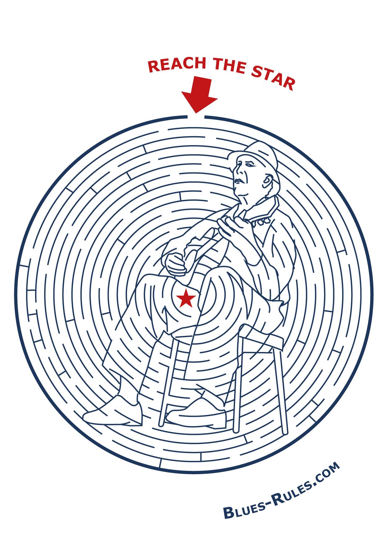 Labyrinthe – Blues Rules à Labyrinthe Difficile
