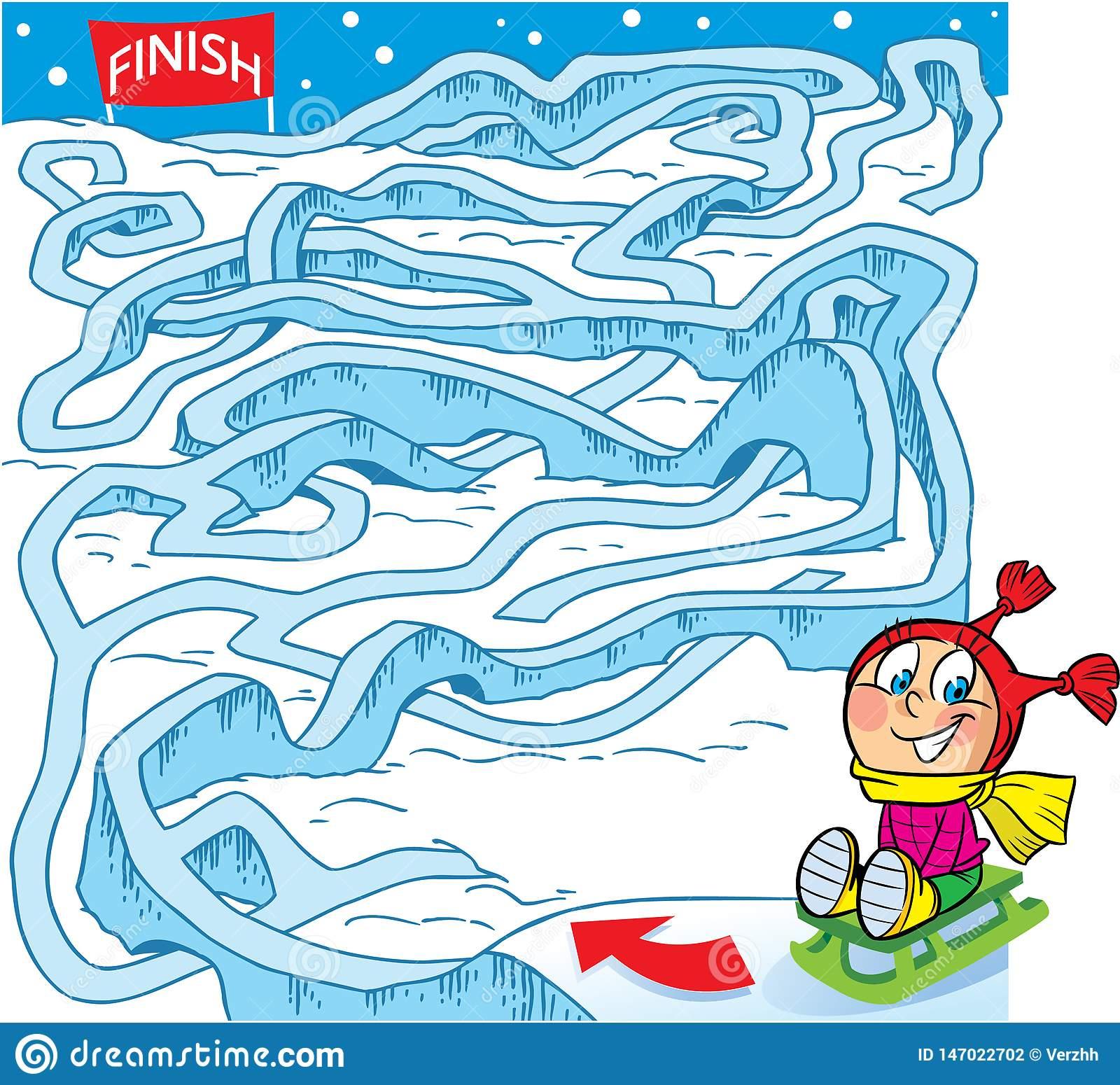 Labyrinthe, Comment Aider Un Enfant À Y Arriver La Finition avec Puzzle Enfant En Ligne