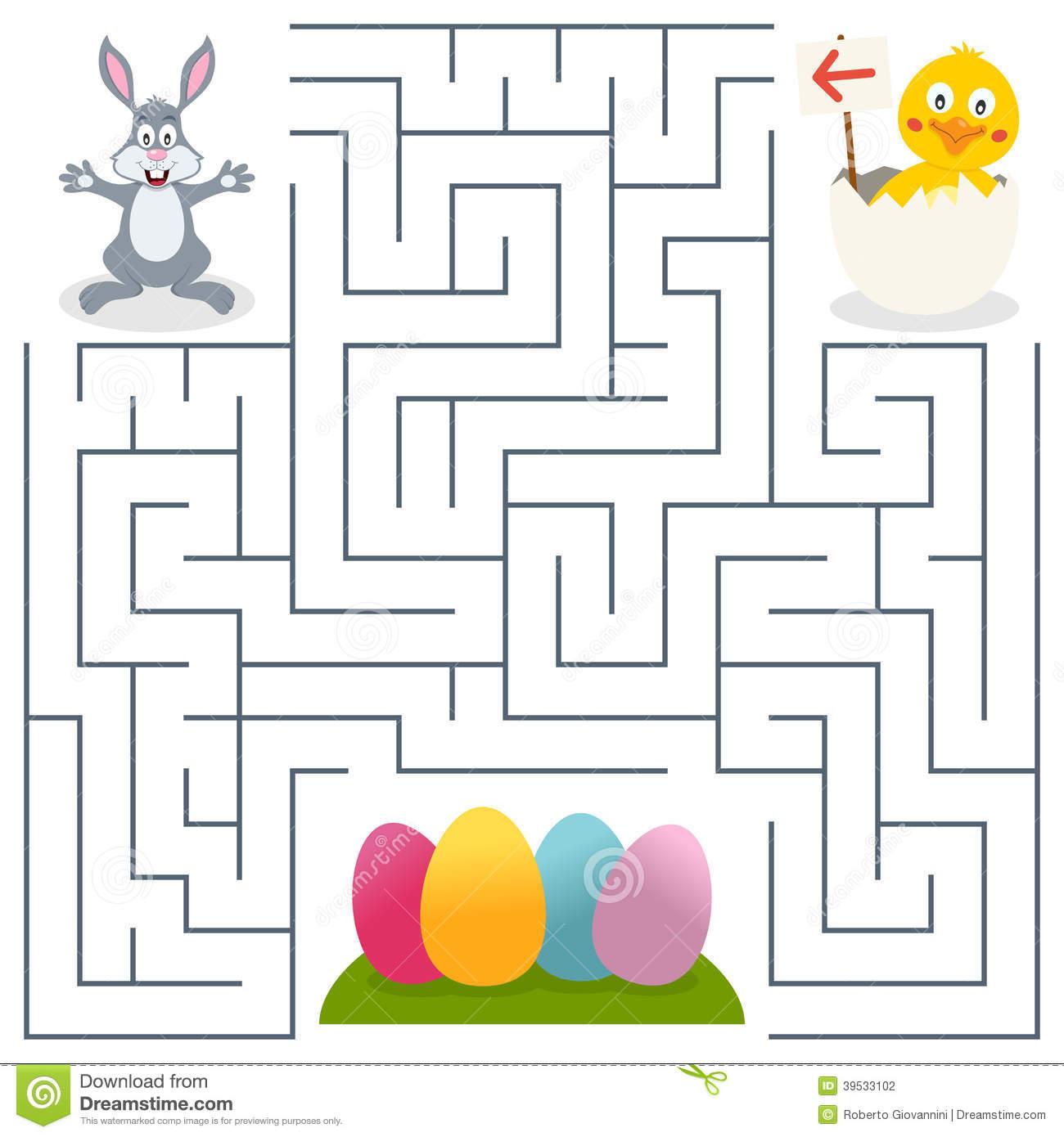 Labyrinthe De Bunny Rabbit Et D'oeufs De Pâques Pour Des dedans Jeux De Labyrinthe Gratuit