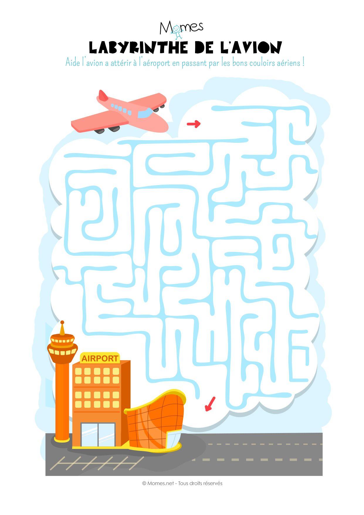 Labyrinthe De L'avion | Labyrinthe, Labyrinthe À Imprimer Et concernant Labyrinthes À Imprimer