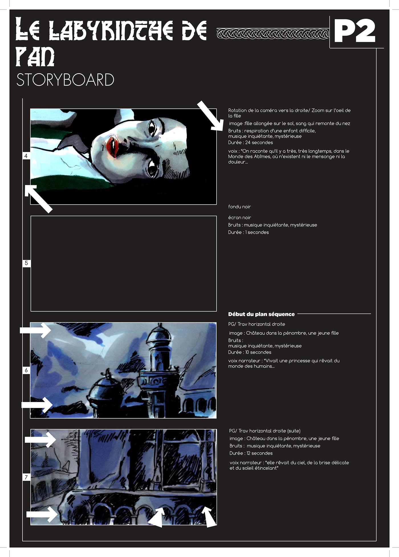 Labyrinthe De Pan Story-Board On Behance encequiconcerne Labyrinthe Difficile