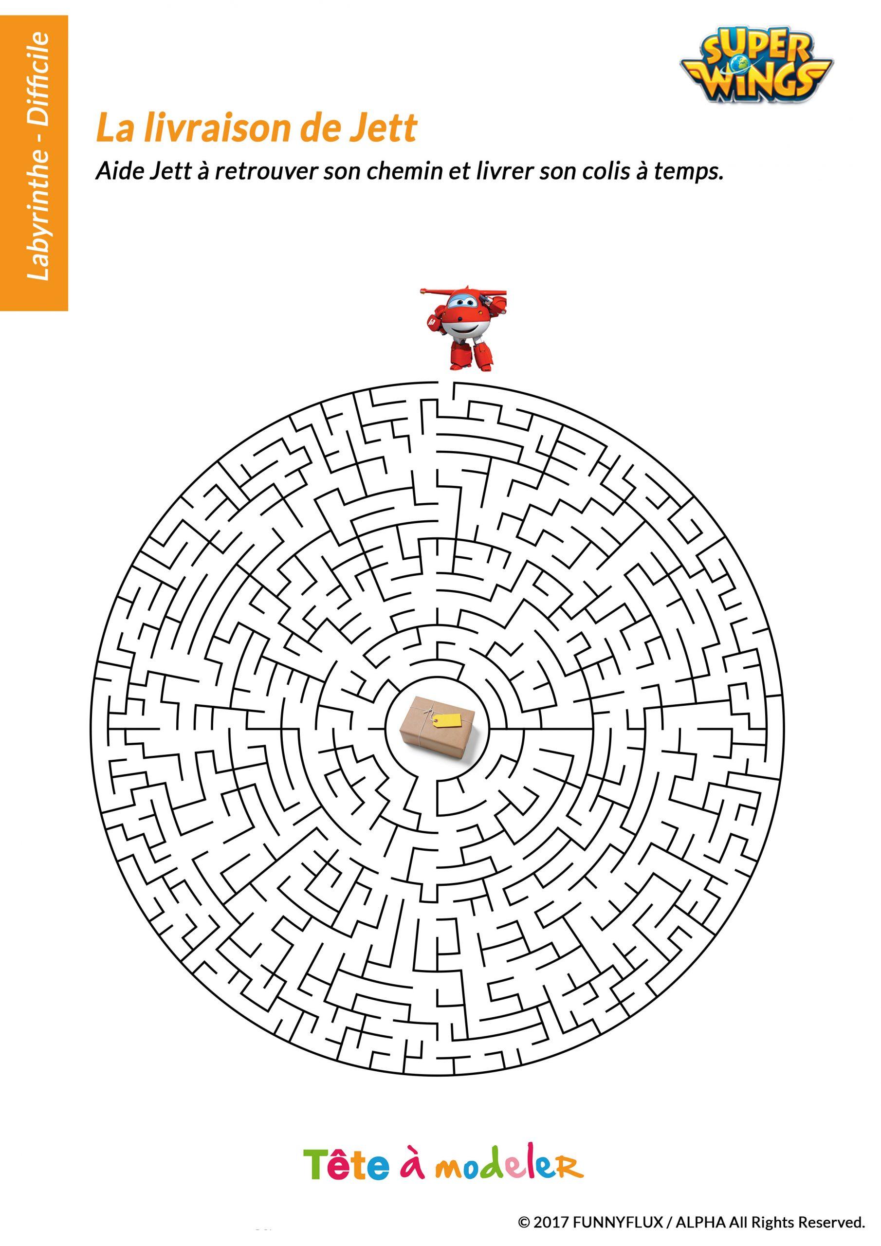 Labyrinthe Difficile Super Wings avec Jeux Des Différences À Imprimer Pour Adultes