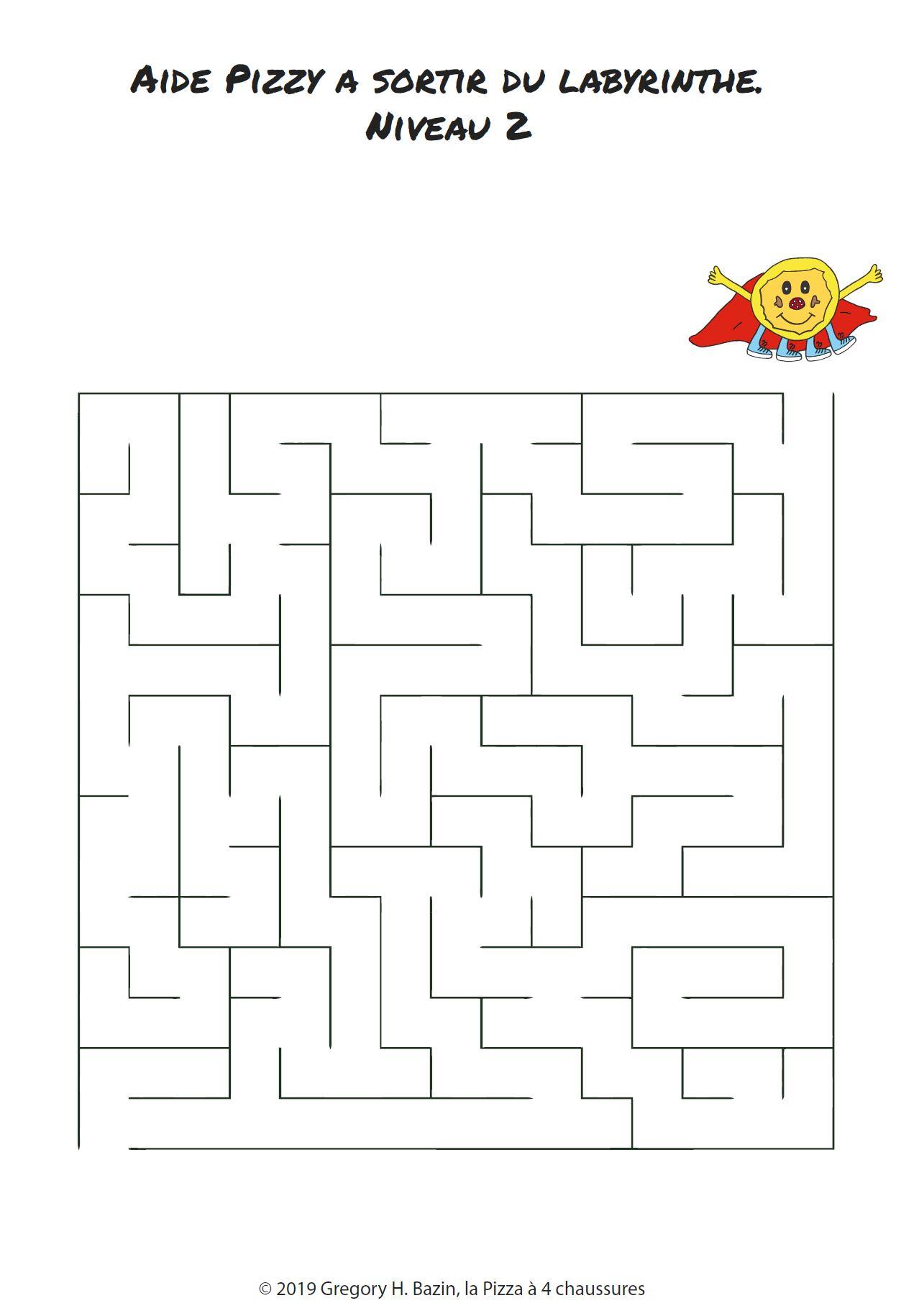 Labyrinthe | La Pizza À 4 Chaussure pour Labyrinthe A Imprimer