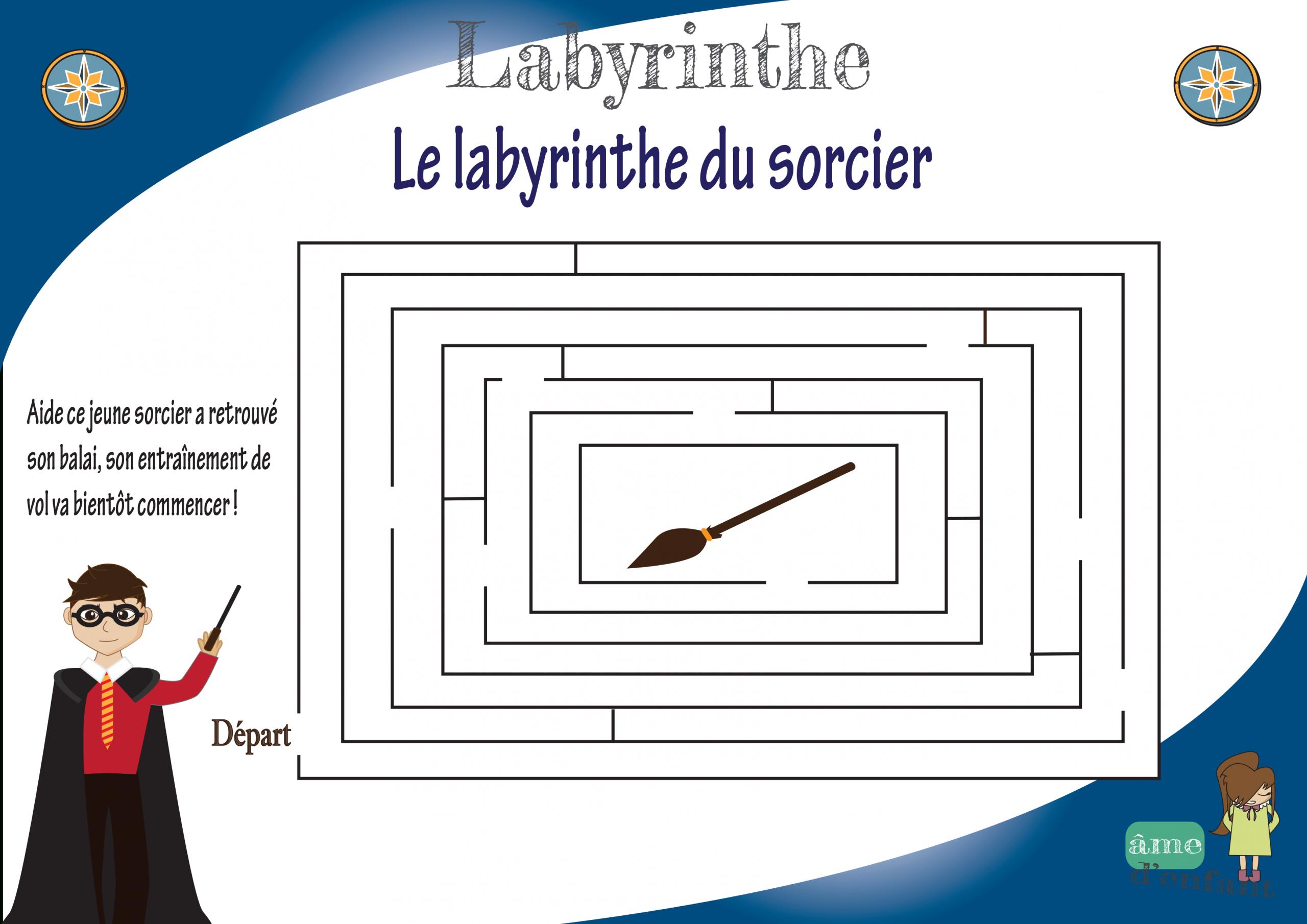 Labyrinthes À Imprimer concernant Jeux De Labyrinthe Gratuit