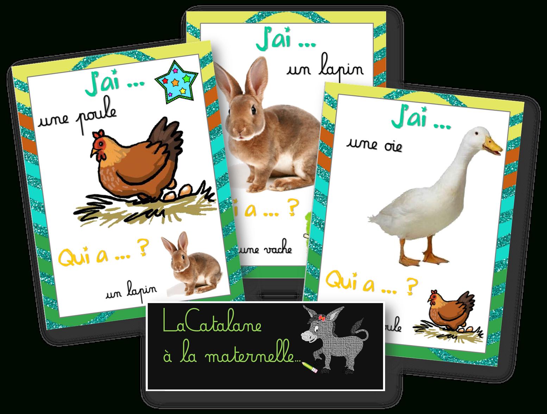 """Lacatalane À La Maternelle: """"j'ai Qui A ?"""" : Les dedans Jeux Les Animaux De La Ferme"""