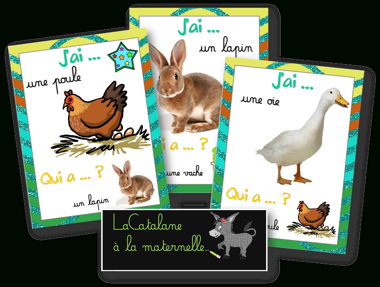 """Lacatalane À La Maternelle: """"j'ai Qui A ?"""" : Les tout Jeux D Animaux De La Ferme"""