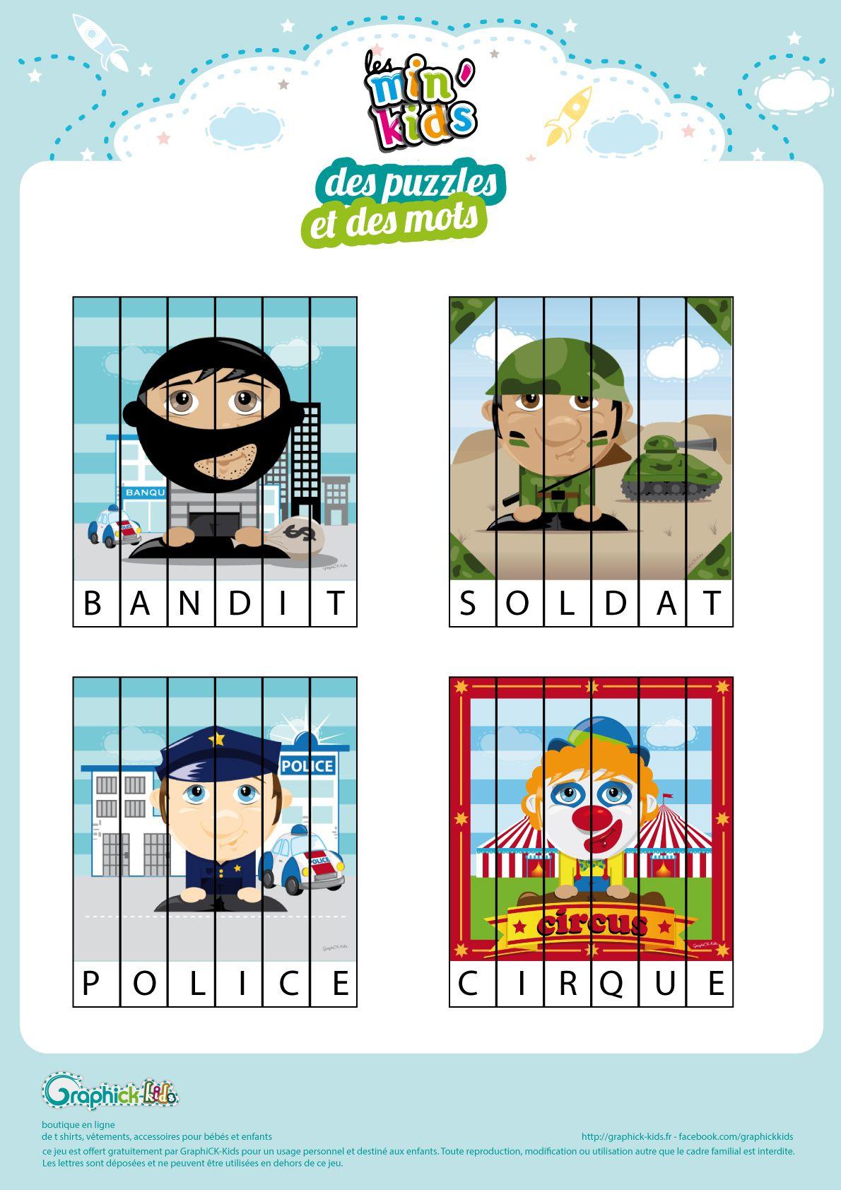 L'activité Du Mercredi : Des Puzzles À Lire Avec Les Min destiné Jeux De Puzzle Pour Enfan Gratuit