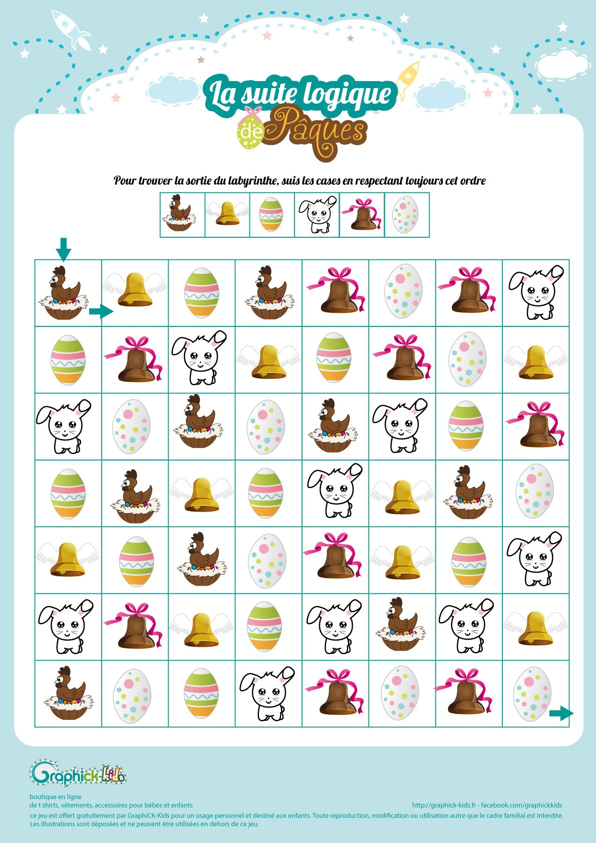 L'activité Du Mercredi : La Suite Logique De Pâques | Jeux destiné Jeux De Logique Gratuits