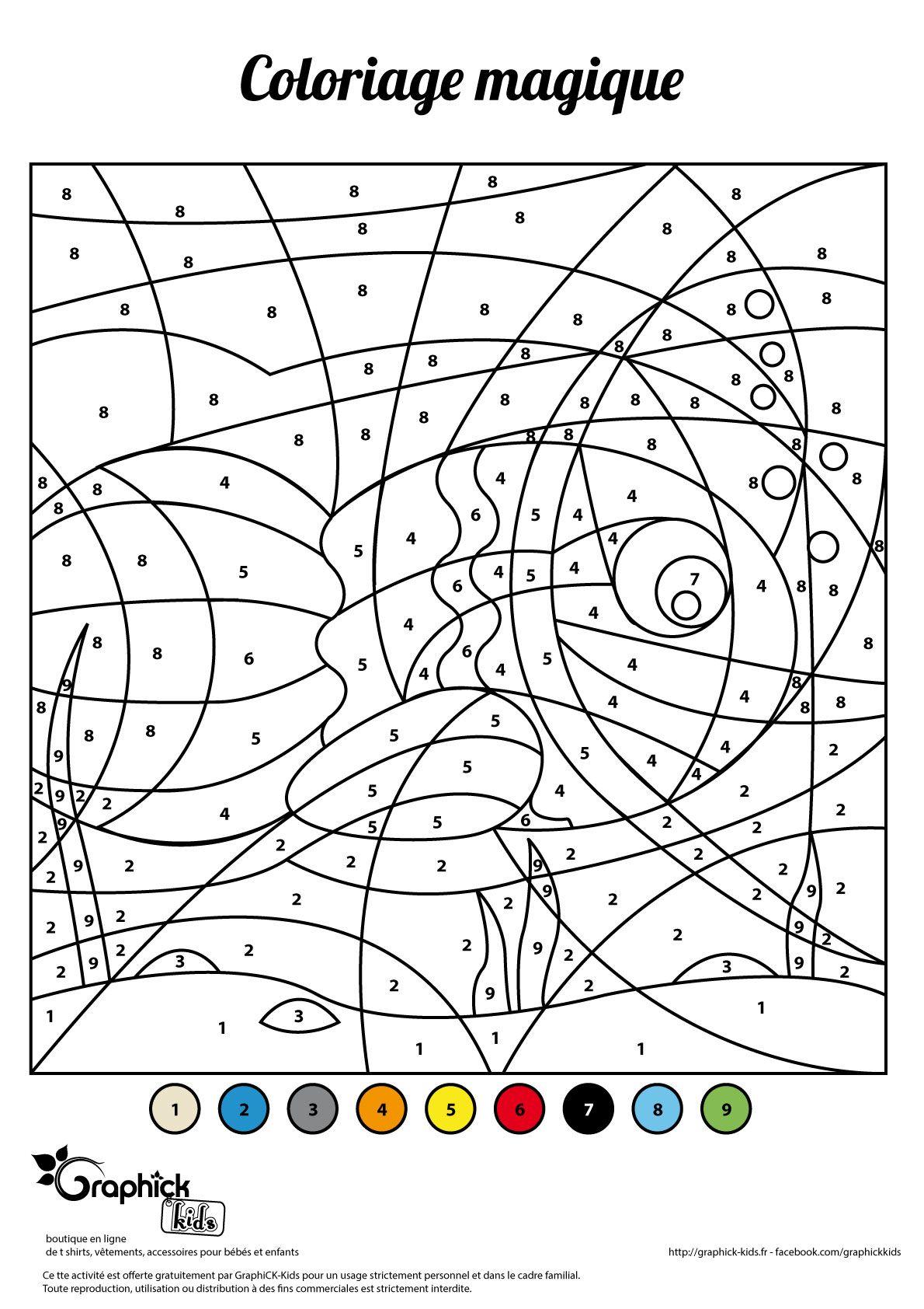 L'activité Du Mercredi : Le Coloriage Magique Du Poisson D à Coloriage Magique 4 Ans