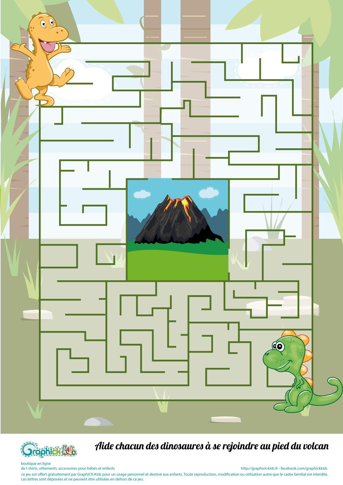 L'activité Du Mercredi : Le Labyrinthe Des Dinosaures pour Jeux De Labyrinthe Gratuit