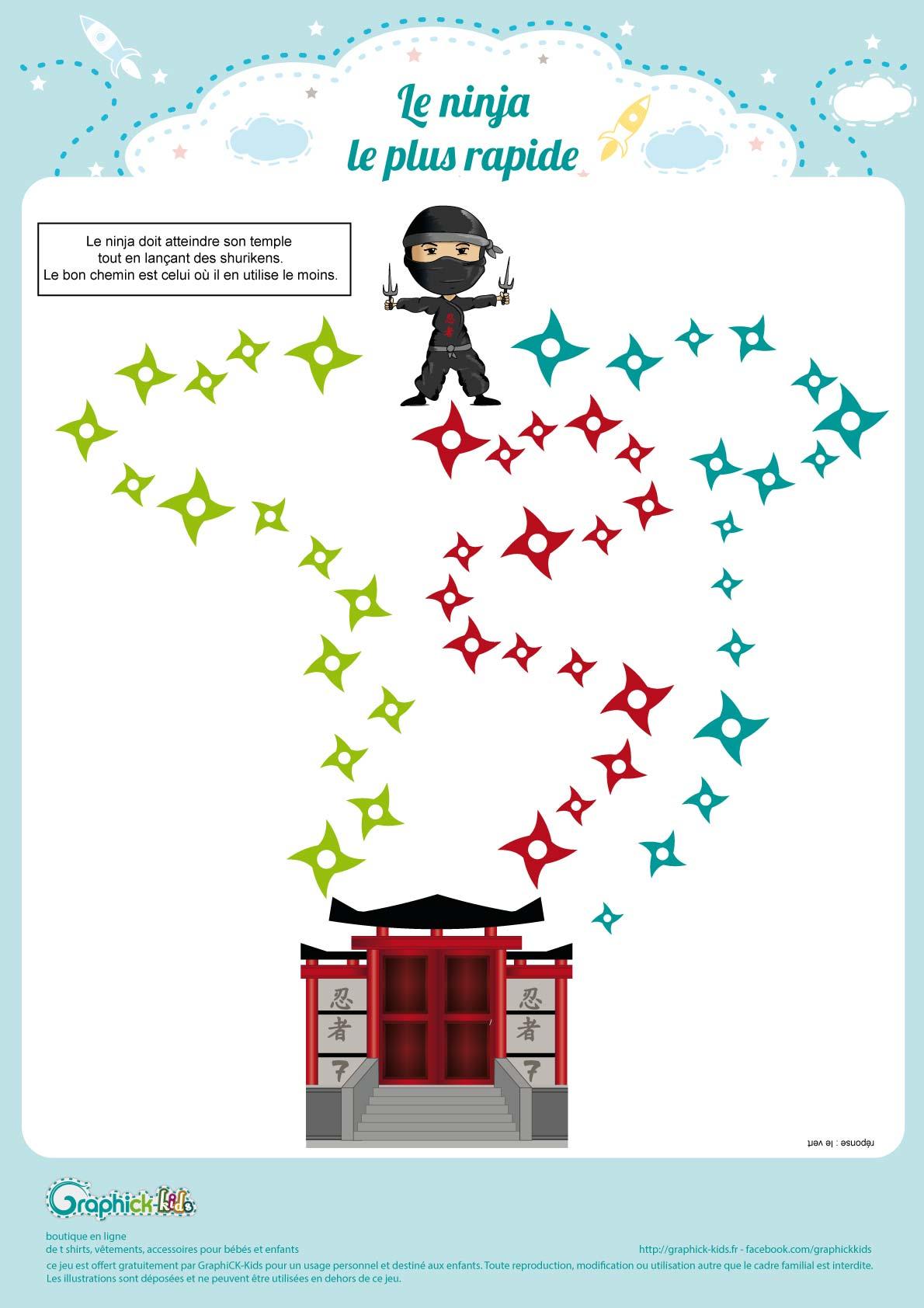L'activité Du Mercredi : Le Labyrinthe Ninja - Graphick-Kids avec Labyrinthe A Imprimer