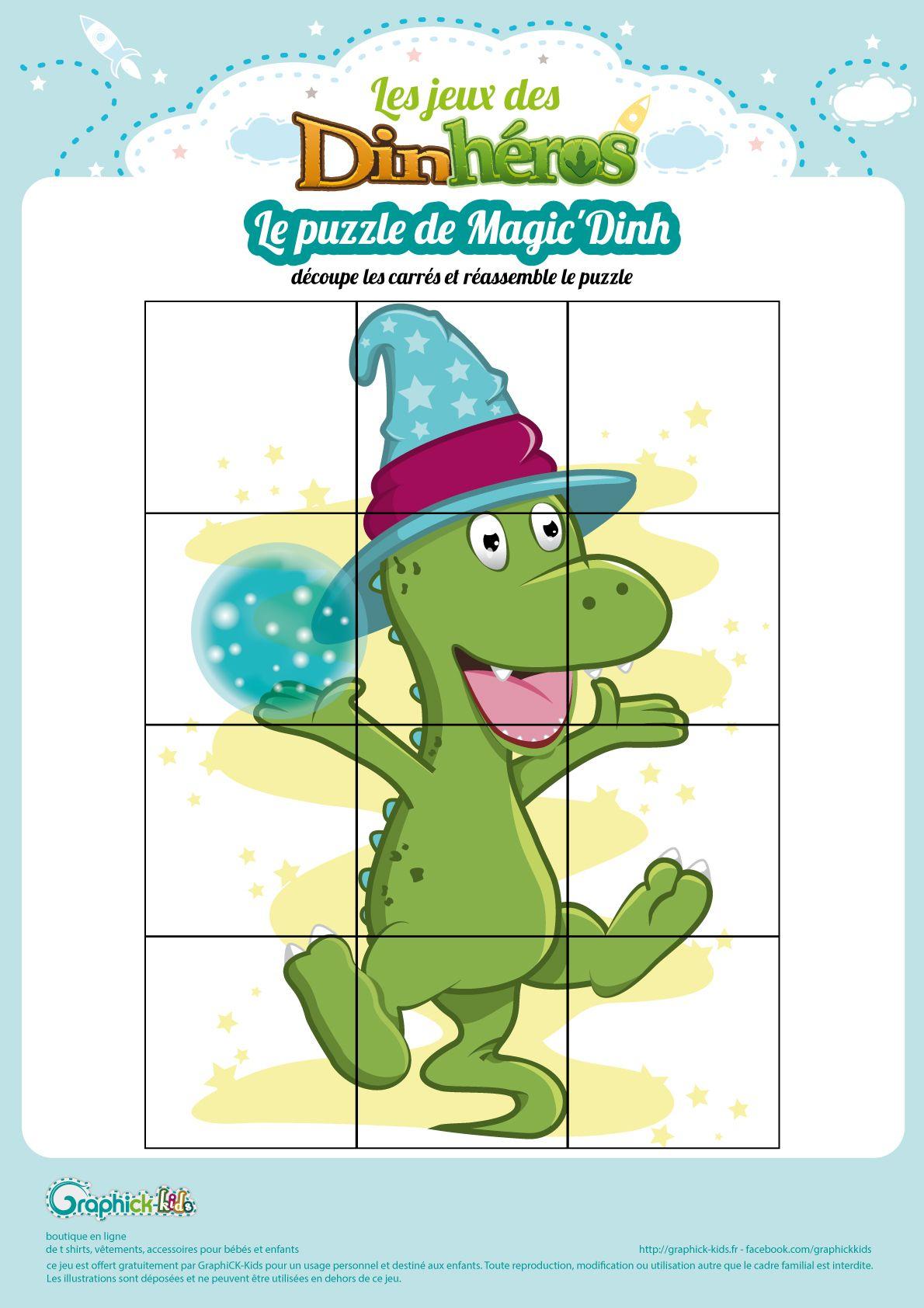 L'activité Du Mercredi : Le Puzzle De Magic Dinh | Puzzles avec Jeux De Puzzle Pour Enfan Gratuit