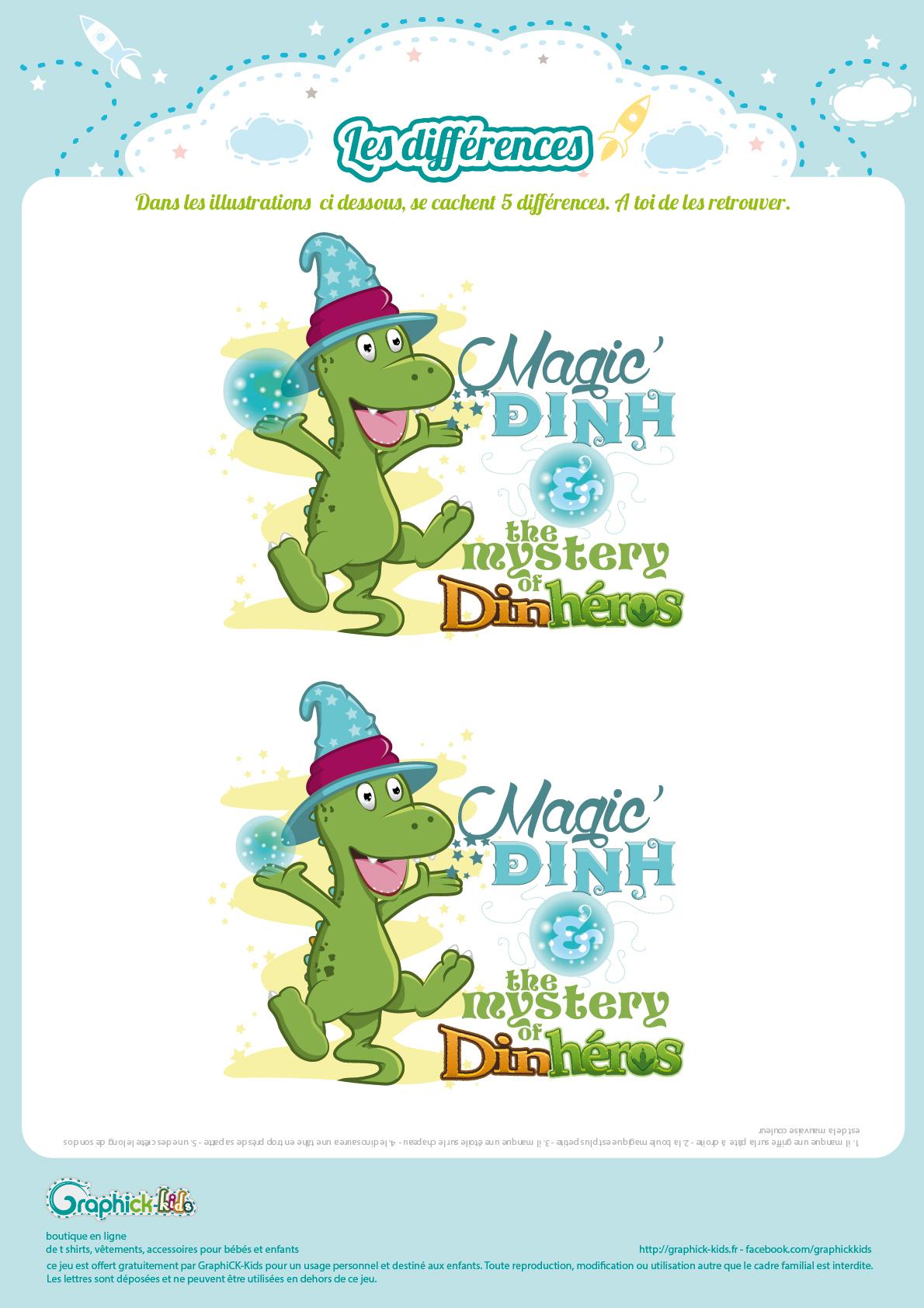 L'activité Du Mercredi : Les Différences De Magic'dinh dedans Jeu Des 7 Différences À Imprimer